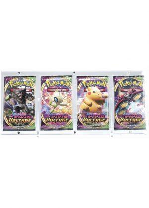 Magnetisk holder til fire Pokémon Boosterpakker (S&M & SWSH) - Legendary Card Collector