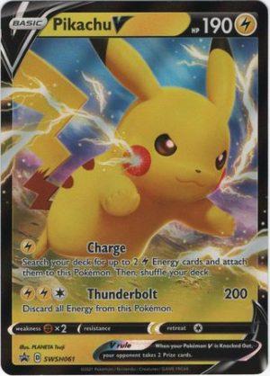 Pikachu V Box. - Pikachu V SWSW061 - Pokemon Sword & Shield Promo kort