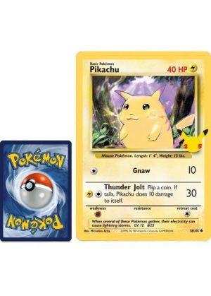 [Pokémon 25] Mappe til JUMBOkort inlusiv Pikachu jubilæums JUMBOkort - Pikachu 58/102 JUMBOkort - Pokémon 25-års jubilæum