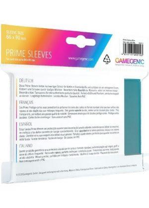 Prime standart (Blå) Deck Protector Sleeves 100 stk. top-loading (66x91mm) - Prime standart (Blå) - Bagside