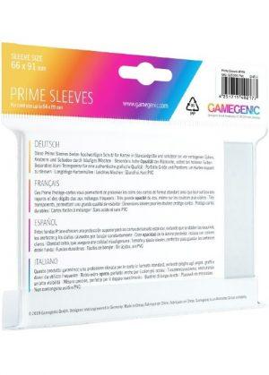 Prime standart (Hvid) Deck Protector Sleeves 100 stk. top-loading (66x91mm) - Prime standart (Hvid) - Bagside