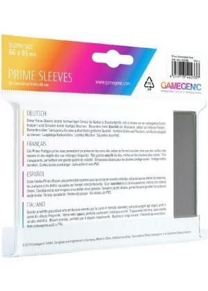 Prime standart (Mørkegrå) Deck Protector Sleeves 100 stk. top-loading (66x91mm) - Prime standart (Mørkegrå) - Bagside