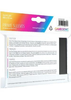Prime standart (Sort) Deck Protector Sleeves 100 stk. top-loading (66x91mm) - Prime standart (Sort) - Bagside