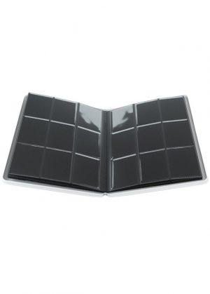 Samlemappe i høj kvalitet: Gamegenic 9-pocket Zip-Up Album  - Hvid - Gamegenic 9-pocket Zip-Up Album  - Hvid - Åben mappe