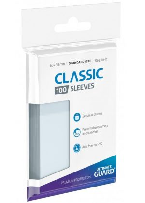 Classic soft sleeves (klar) standard size 100 stk. top-loading (66x93mm)