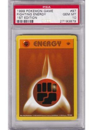 Fighting Energy - 97/102 - 1st Edition - PSA 10