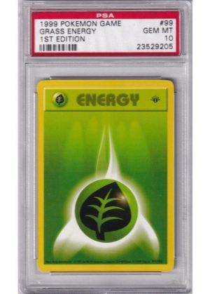 Grass Energy - 99/102 - 1st Edition - PSA 10
