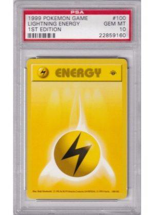 Lightning Energy - 100/102 - 1st Edition - PSA 10