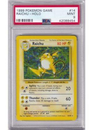 Raichu - 14/102 - PSA 9