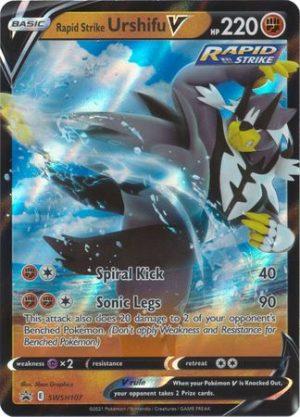 Rapid Strike Urshifu V Box. - Rapid Strike Urshifu V SWSH107 - Pokemon Sword & Shield Promo kort