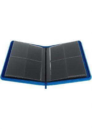 Samlemappe i høj kvalitet: Gamegenic 4-pocket Zip-Up Album  - Blå - Gamegenic 4-pocket Zip-Up Album  - Blå - Åben mappe