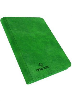 Samlemappe i høj kvalitet: Gamegenic 4-pocket Zip-Up Album  - Grøn