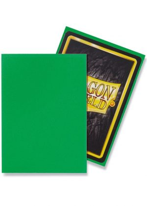 Dragon Shield matte (Æble-grøn) Deck Protector Sleeves 100 stk. top-loading (63x88mm) - Dragon Shield standard sleeves matte (Æble-grøn)