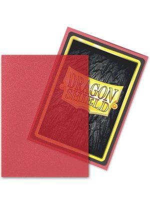Dragon Shield matte (Gennemsigtig rød) Deck Protector Sleeves 100 stk. top-loading (63x88mm) - Dragon Shield standard sleeves matte (Gennemsigtig rød)
