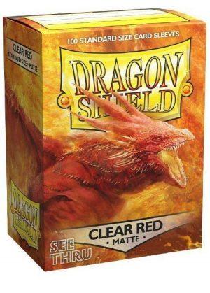 Dragon Shield matte (Gennemsigtig rød) Deck Protector Sleeves 100 stk. top-loading (63x88mm)