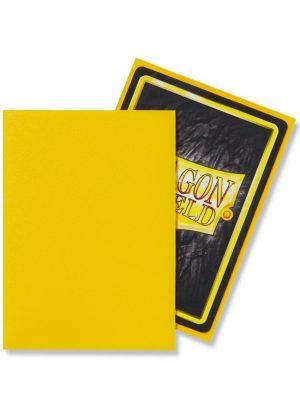 Dragon Shield matte (Gul) Deck Protector Sleeves 100 stk. top-loading (63x88mm) - Dragon Shield standard sleeves matte (Gul)