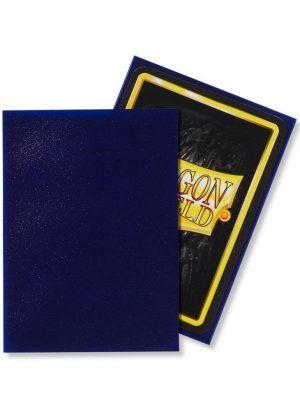 Dragon Shield matte (Mørk blå) Deck Protector Sleeves 100 stk. top-loading (63x88mm) - Dragon Shield standard sleeves matte (Mørk blå)