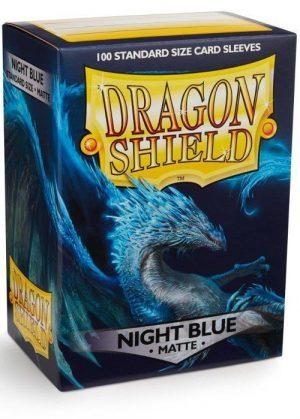Dragon Shield matte (Mørk blå) Deck Protector Sleeves 100 stk. top-loading (63x88mm)