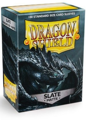 Dragon Shield matte (Mørk grå) Deck Protector Sleeves 100 stk. top-loading (63x88mm)