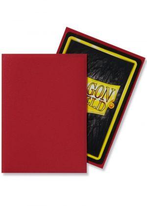 Dragon Shield matte (Rød) Deck Protector Sleeves 100 stk. top-loading (63x88mm) - Dragon Shield standard sleeves matte (Rød)