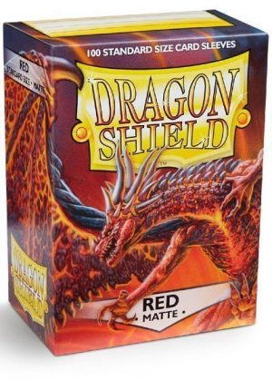 Dragon Shield matte (Rød) Deck Protector Sleeves 100 stk. top-loading (63x88mm)