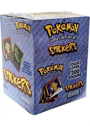 Pokémon klistermærker Box (30 pakker) - Stickers Series 1