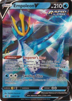 Empoleon V - V Strikers Tin. - Empoleon V SWSH108 - Pokemon Sword & Shield Promo kort