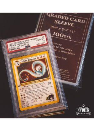 Sleeves til PSA kort - Graded Card Sleeves 100 stk. top-loading (85x139mm) - Topdeck Premium Line - Graded card sleeve med PSA pokemon kort