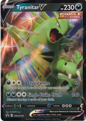 Tyranitar V - V Strikers Tin. - Tyranitar V SWSH109 - Pokemon Sword & Shield Promo kort