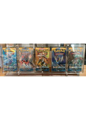 Magnetisk holder til fem Pokémon Boosterpakker (S&M & SWSH) - Legendary Card Collector - Magnetisk holder til udstilling og beskyttelse af fem Pokémon Boosterpakker