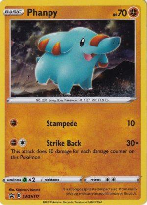 Phanpy blister pack (1 stk.) - SWSH Chilling Reign - Phanpy SWSH117 - Pokemon Sword & Shield Promo kort