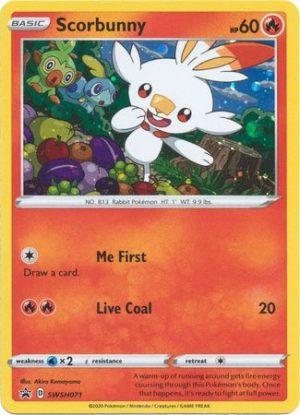 Scorbunny blister pack (1 stk.) - SWSH Vivid Voltage - Scorbunny SWSH071 - Pokemon Sword & Shield Promo kort