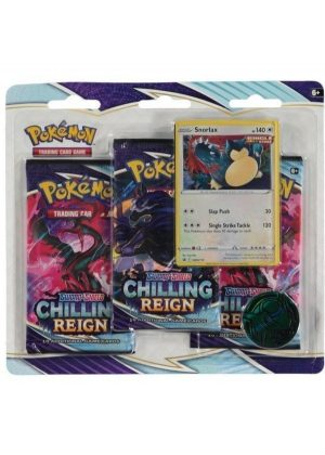 Snorlax blister pack (3 stk.) - SWSH Chilling Reign