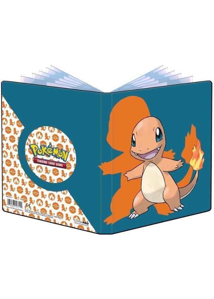 Lille mappe med pokemonmotiv (Charmander) (4 kort pr. side + 2 sider til JUMBOkort)