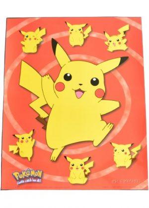 Plakat E - Pikachu med 6 små pikachu bagved
