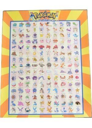 Plakat H - De første 150 pokemon (Kanto region)