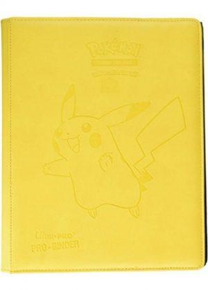 Stor mappe med pokemonmotiv (Pikachu) (9 kort pr. side) - Pikachu premium pro-binder forside