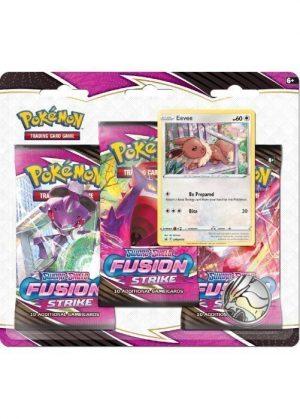 Eevee blister pack (3 stk.) - SWSH Fusion Strike