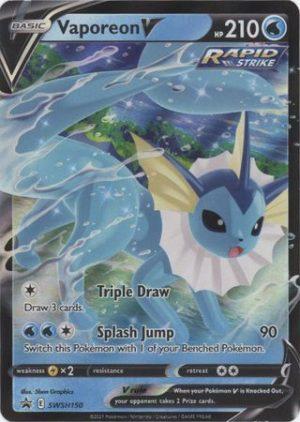 Vaporeon V - Eevee Evolutions Tin - Vaporeon V SWSH150 - Pokemon Sword & Shield Promo kort
