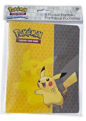 Lille softcover mappe med pokemonmotiv (Pikachu) (4 kort pr. side)