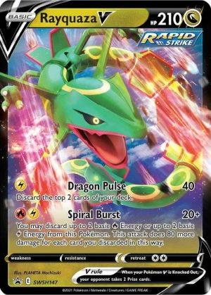 Rayquaza V - Battle Deck - Rayquaza V SWSH147 - Pokemon Sword & Shield Promo kort